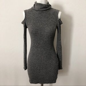 Silence & noise grey long sleeve dress